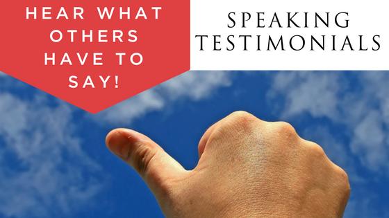 speaking testimonials